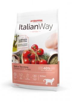 Italian Way 1,5кг безглютеновый корм для котят, с курицей и индейкой, Kitten Chicken/Turkey