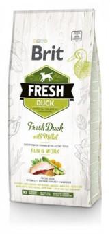 Brit 2,5кг Fresh для активных собак с уткой и пшеном Duck with Millet Active Run & Work