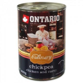 Ontario 0,4кг консервы для собак Карри с курицей и нутом