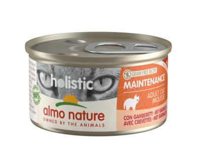 6шт Almo Nature 85гр Консервы для кошек с креветками Holistic Cat wet Maintenance - with Shrimps