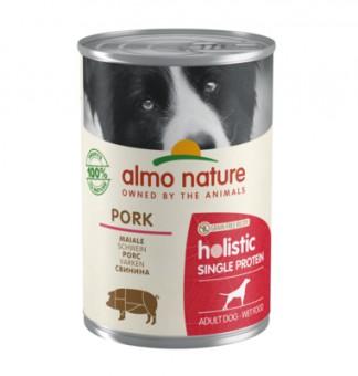 Almo Nature 400гр консервы с свининой для собак с чувствительным пищеварением (монобелковый рацион)