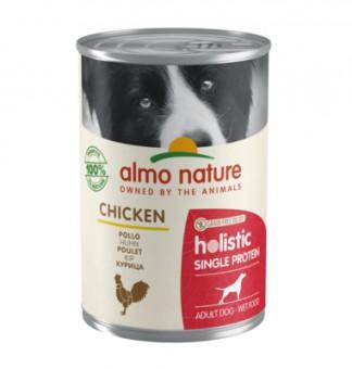 Almo Nature 400гр консервы с курицей для собак с чувствительным пищеварением (монобелковый рацион)