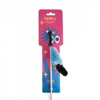 Tappi дразнилка Тилия мышь с кошачьей мятой с хвостом из натурального меха норки на веревке