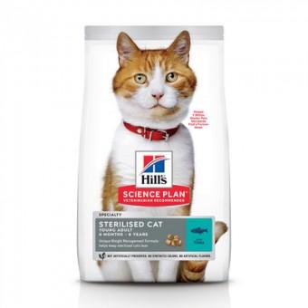 Hill's SP 10кг Feline Adult Young Sterilised Tuna корм для молодых стерилизованных кошек с тунцом