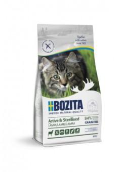 Bozita 400г Active & Sterilized grain free Lamb 33/20 Сухой корм для активных стерилизованных взрослых и растущих кошек, беззерновой с ягненком