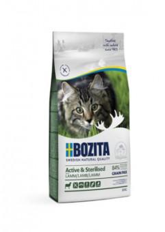 Bozita 10кг Active & Sterilized grain free Lamb 33/20 Сухой корм для активных стерилизованных взрослых и растущих кошек, беззерновой с ягненком