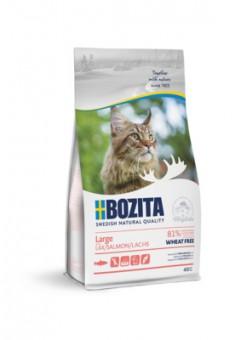 Bozita 400г Large Wheat Free Salmon 31/18 Сухой корм для взрослых и растущих кошек крупных пород, с лососем, без пшеницы