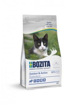 Bozita 400гр Outdoor&Active 30/20 Сухой корм для активных кошек, с курицей, рисом и мясом лося