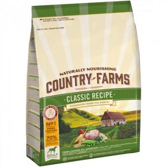 Country Farms 11кг классический корм для взрослых собак, с высоким содержанием курицы