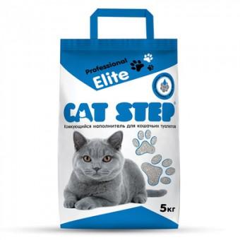 Cat Step 5кг комкующийся бентонитовый наполнитель, Cat Step Professional Elite