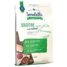 Sanabelle 10кг Sensitive с птицей сухой корм для кошек