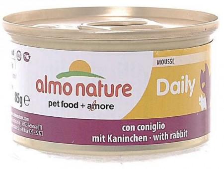 6шт Almo Nature 85гр Консервы  нежный мусс для кошек Меню с Кроликом
