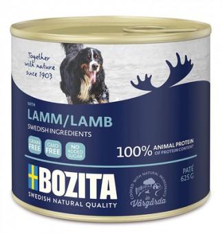 Bozita super premium 625гр консервы для собак с ягненком