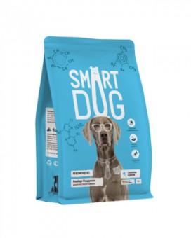 Smart Dog 12кг корм для взрослых собак с лососем и рисом