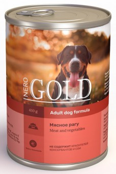 Nero Gold 410г Meat Vegetables консервы для собак, Мясное рагу