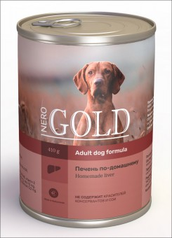 Nero Gold 410г Home Made Liver консервы для собак, Печень по-домашнему