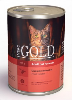6шт.Nero Gold 410г Venison консервы, Свежая оленина