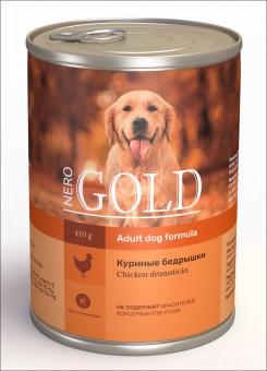 Nero Gold 410г Chicken Drumsticks консервы для собак, Куриные бедрышки