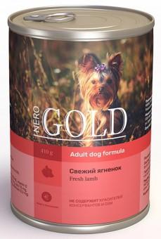 Nero Gold 410 г Adult Dog Formula Fresh Lamb консервы для взрослых собак Свежий Ягненок