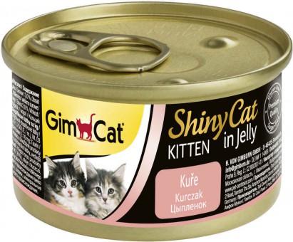 GimCat ShinyCat Kitten 70г консервы для котят из цыпленка