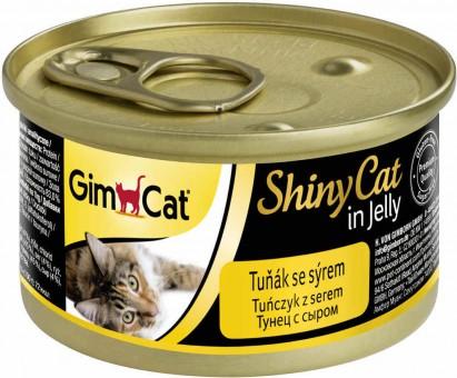 GimCat ShinyCat 70г консервы для кошек из тунца с сыром