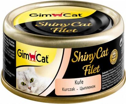 GimCat ShinyCat Filet 70г консервы для кошек из цыпленка