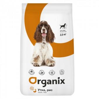 Organix 18кг сухой корм контроль веса для взрослых собак, с уткой и рисом