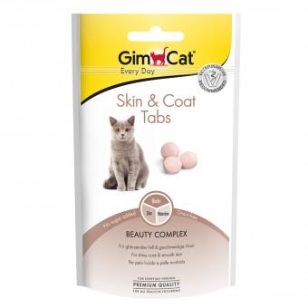 """GIMCAT 40г Витамины для кошек для кожи и шерсти Скин и коат табс"""""""
