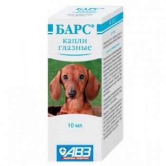 БАРС глазные капли  10 мл, для кошек и собак с пипеткой