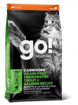 Go Natural 1,36кг 48/18 Sensitivity Trout and salmon беззерновой корм для котят и кошек с чувствительным пищеварением