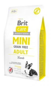Brit 2кг Care Mini Adult Lamb Сухой беззерновой корм для взрослых собак мини пород с ягненком
