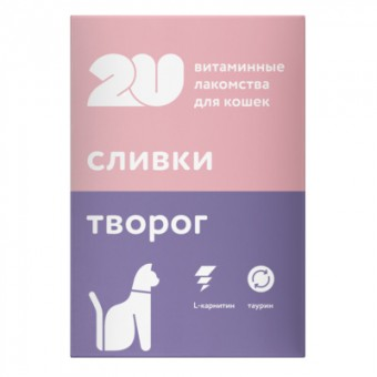 2U 60таб витаминное лакомство для кошек для здоровья и энергии