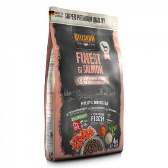 Belcando 12,5 кг Finest GF Salmon Сухой беззерновой корм для взрослых привередливых собак малых и средних пород с аллергией на зерно и белки мяса, с лососем