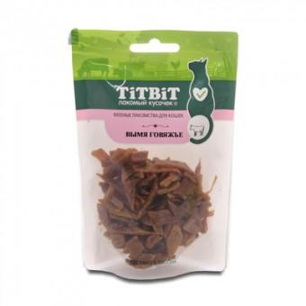 TiTBiT 40г вяленое лакомство Вымя говяжье для кошек