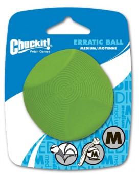 Chuckit Erratic Ball 1-Pack Large Игрушка для собак - Геометрический мяч, резина, средняя
