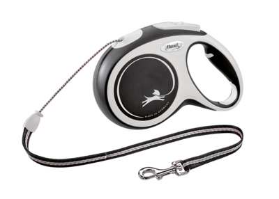 Flexi New Comfort Cord S Рулетка-трос для собак до 12кг, 8м черная