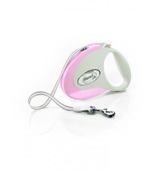 Flexi Style Tape M Рулетка-трос 5 м до 25кг, розовая
