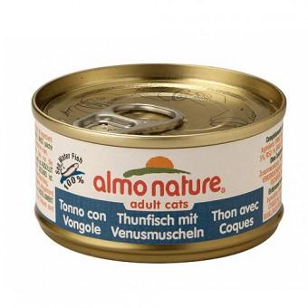 6шт Almo Nature 70гр с тунцом и моллюсками консервы для кошек Legend Adult CatTuna&Clams