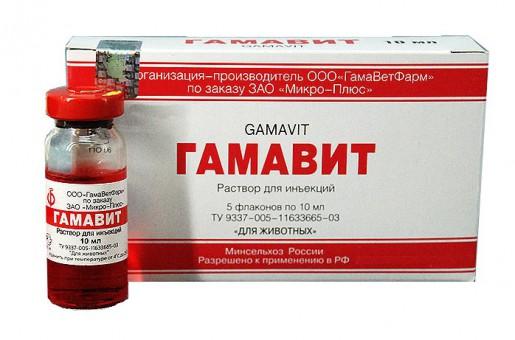 Гамавит 10 мл (5 флак./упак.)№ 5, комплексный аминокислотно - витаминный препарат для собак и кошек
