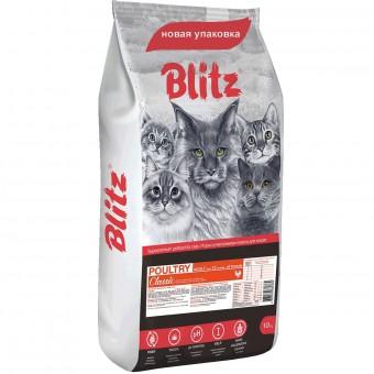 Blitz Adult Cats Poultry 10кг сухой корм для кошек с домашней птицей