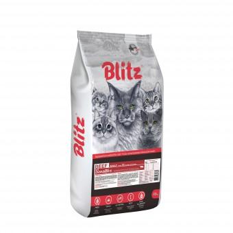Blitz Adult Cats Beef 10кг сухой корм для кошек с говядиной