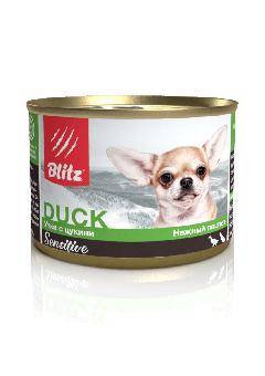 Blitz 200г консеврвы для собак малых пород с Уткой и цукини