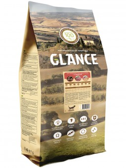 Glance 20кг сухой корм для собак с говядиной и рисом