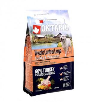 Ontario 12кг Large Weight Control Turkey & Potatoes Для собак крупных пород Контроль веса с индейкой и картофелем
