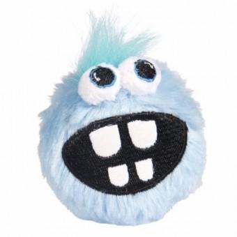 Rogz плюшевый мяч малый для щенков с принтом зубы GRINZ PLUSH, голубой, PUPZ GRINZ PLUSH