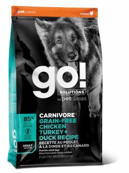 Go! Natural Holistic 9,98 кг CARNIVORE GF Chicken,Turkey + Duck Adult Recipe DF беззерновой корм для собак и щенков Цыпленок, Индейка, Утка, Лосось
