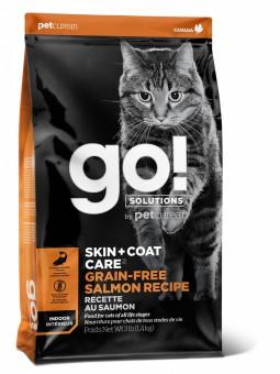 Go! Solutions Cat 1,4 кг Skin + Coat Care Grain Free Salmon беззерновой корм для кошек и котят Лосось
