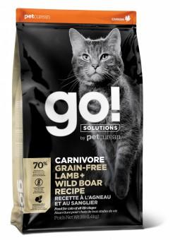 Go! Solutions Cat 7,26 кг Carnivore Grain Free Lamb + Wild Boar беззерновой корм для кошек и котят Ягненок + Дикий кабан