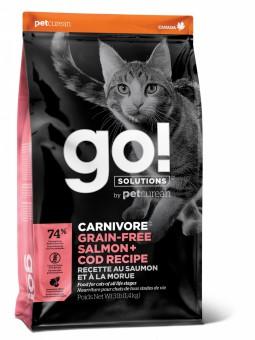Go! Solutions Cat 7,26 кг Carnivore Grain Free Salmon + Cod беззерновой корм для кошек и котят Лосось + Треска