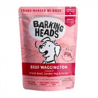 Barking Heads 300г Beef Waggington Паучи для собак с говядиной  и бурым рисом Вуф-строганов